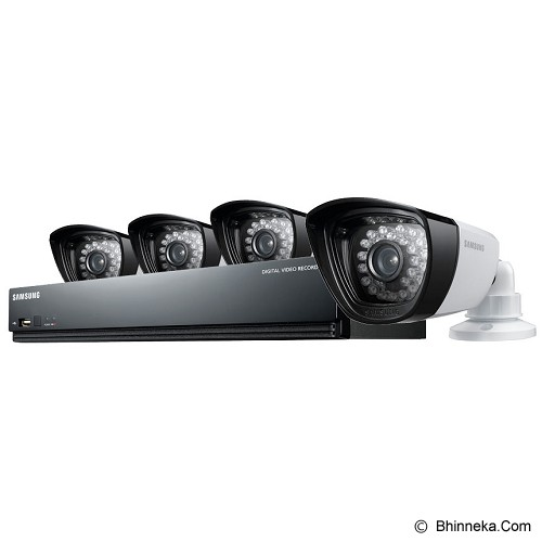 SAMSUNG 4 Channel DVR Security System [SDS-P3040 + Adaptor] - Cctv Camera